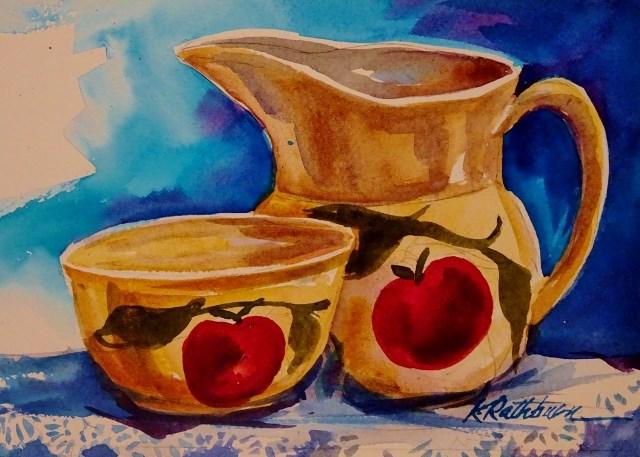 """""""Gramma's Treasures"""" original fine art by Kathy Los-Rathburn"""