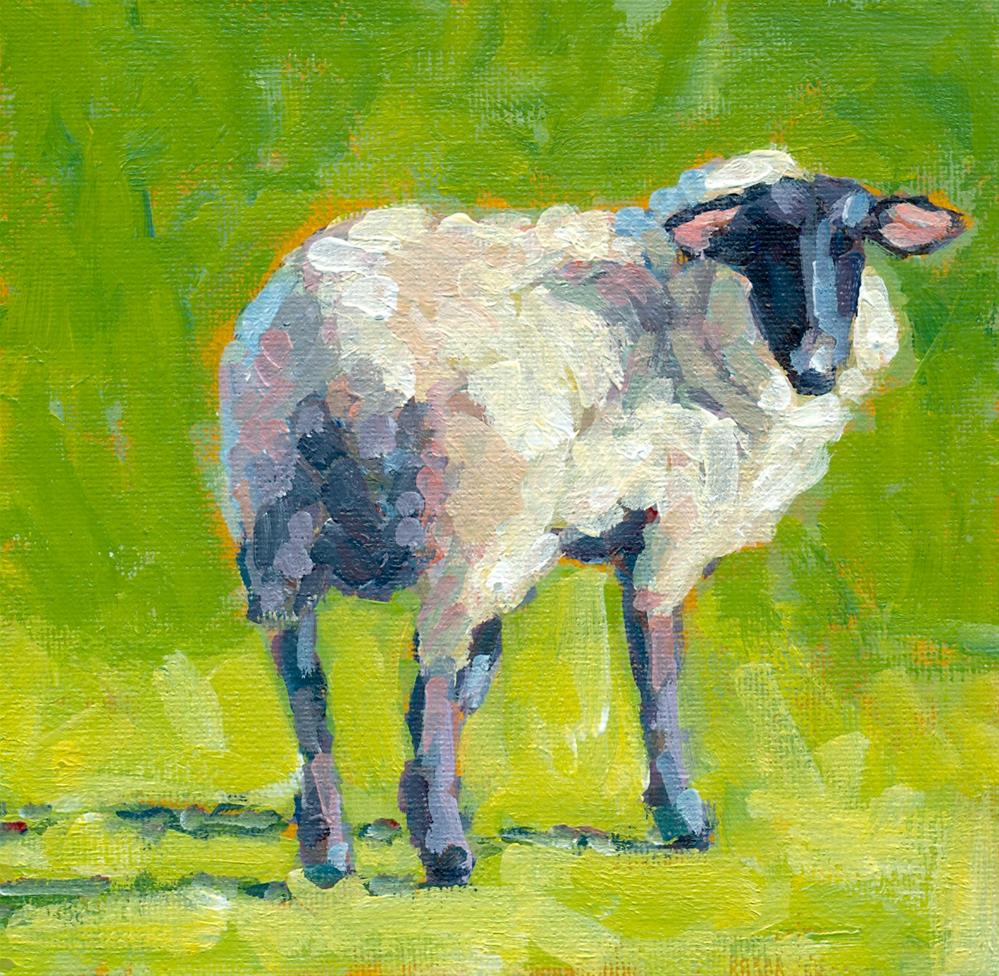 """sheepish"" original fine art by Shelley Garries"