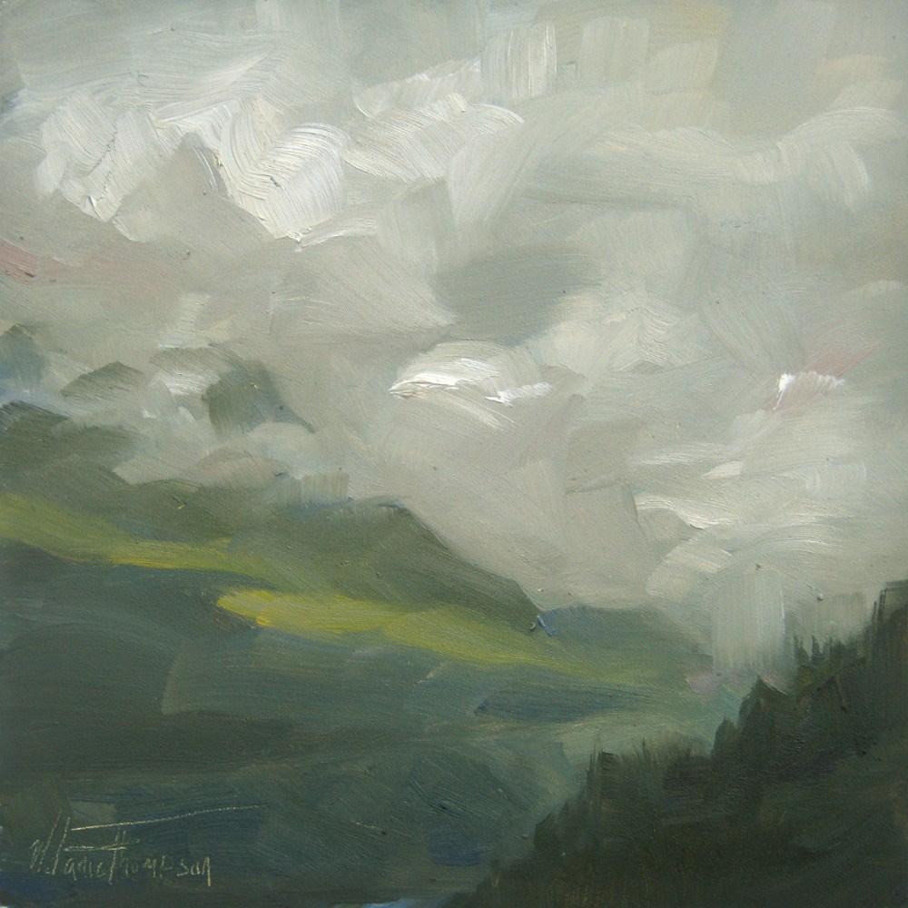 """Snoqualmie Clouds"" original fine art by Melanie Thompson"