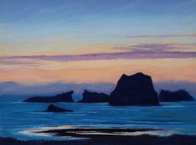 """Evening Fog"" original fine art by Sharon Lewis"