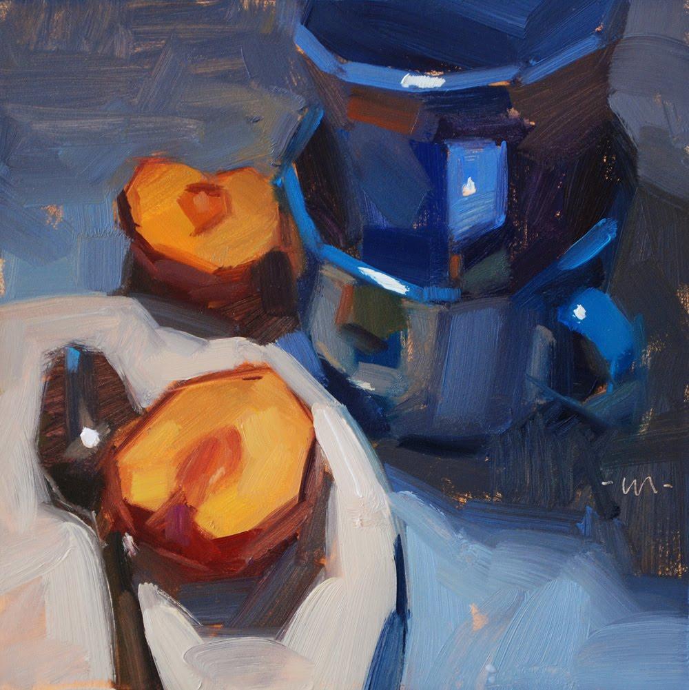"""Plum Line"" original fine art by Carol Marine"
