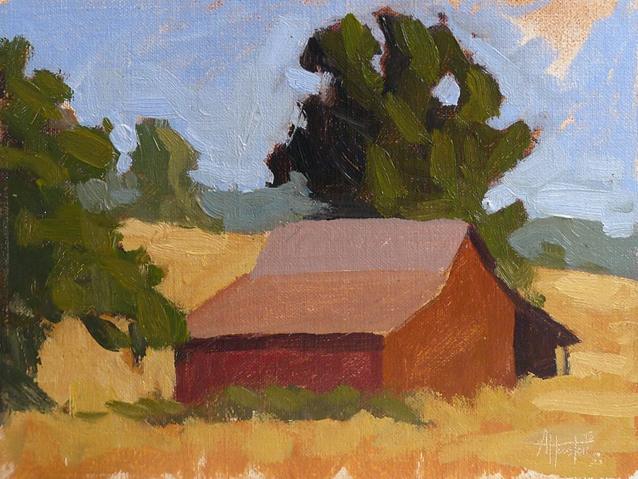 """Deer Creek Barn (Study)"" original fine art by Adam Houston"