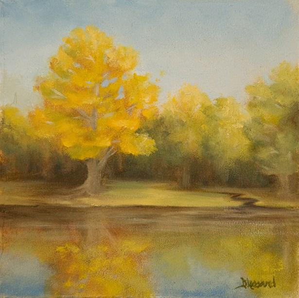 """""""Golden Maple-small #1313"""" original fine art by Dee Lessard"""