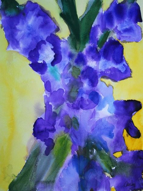 """Glads"" original fine art by Donna Crosby"
