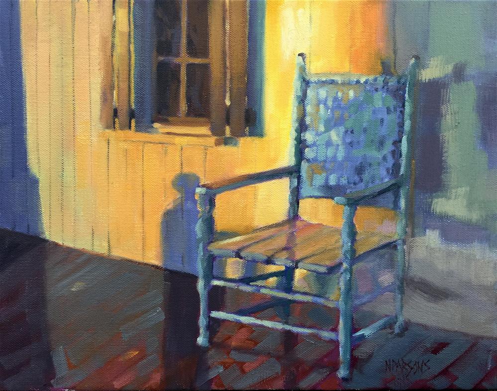 """Just A Chair On A Porch"" original fine art by Nancy Parsons"