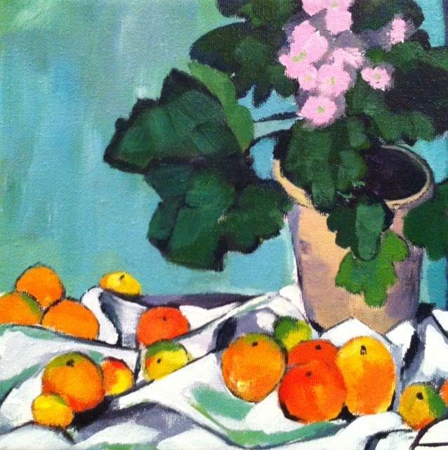 """Cezanne"" original fine art by Karen D'angeac Mihm"