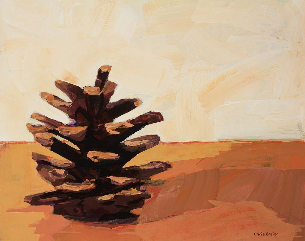 """Pine Cone"" original fine art by Chris Breier"