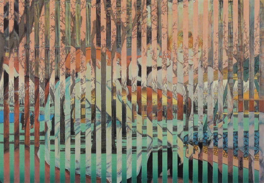 """Ladies at the Plum Garden Salon"" original fine art by Cynthia Frigon"