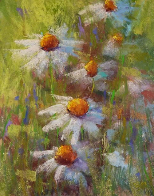 """Timeless Tips for Painting Daisies"" original fine art by Karen Margulis"