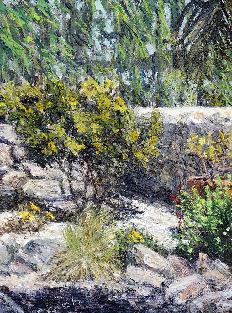 """Corner of My Yard"" original fine art by Candi Hogan"