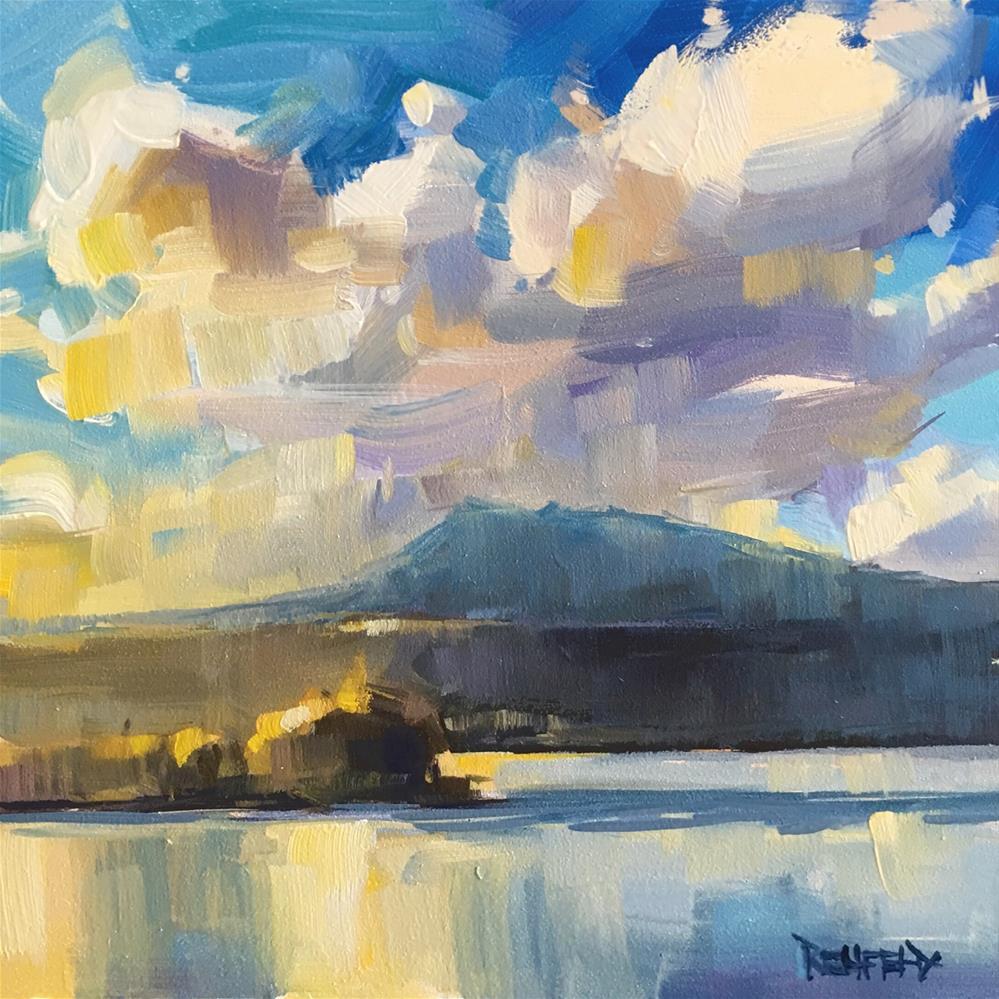 """Underwood Mt Sunset"" original fine art by Cathleen Rehfeld"