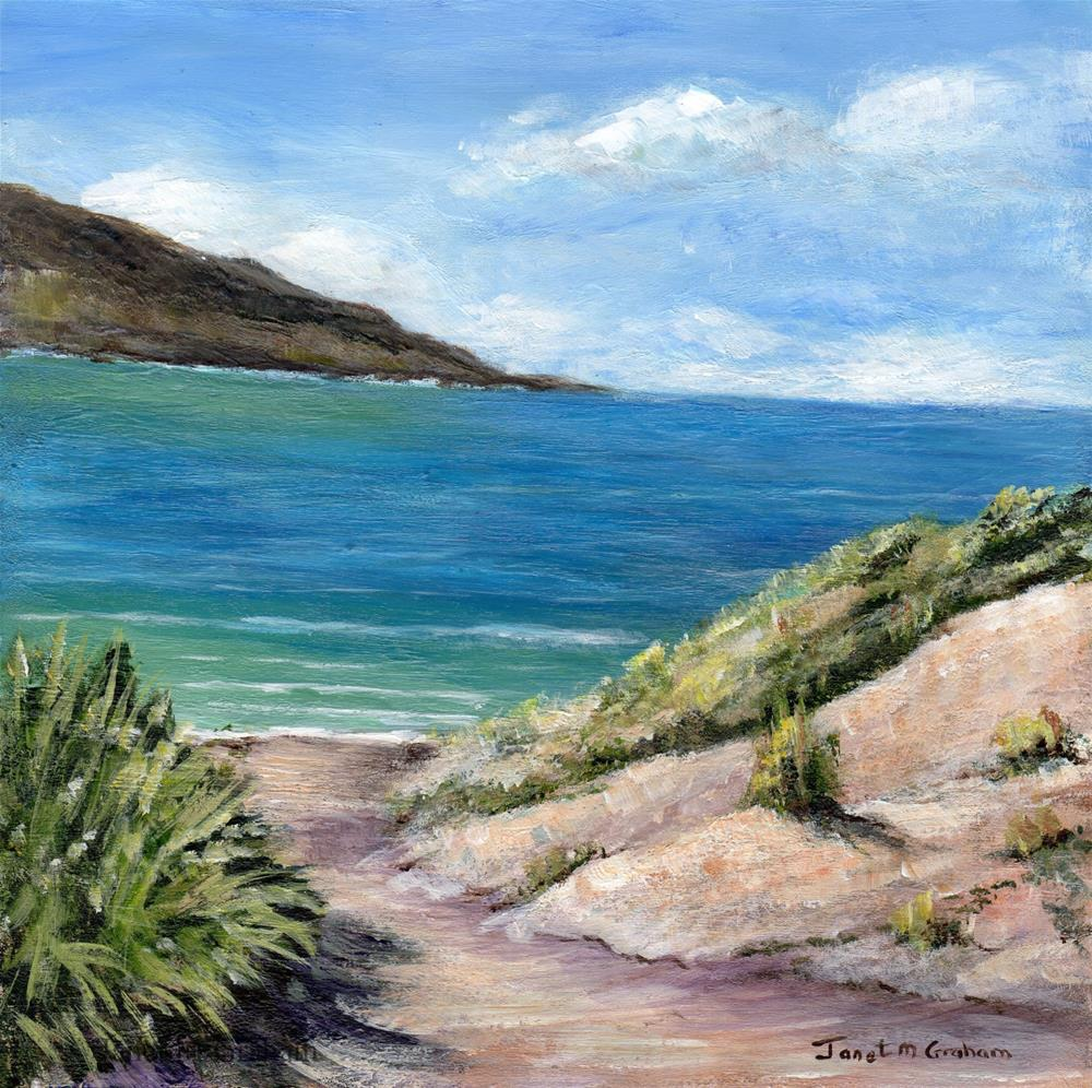 """""""Path to the Sea"""" original fine art by Janet Graham"""
