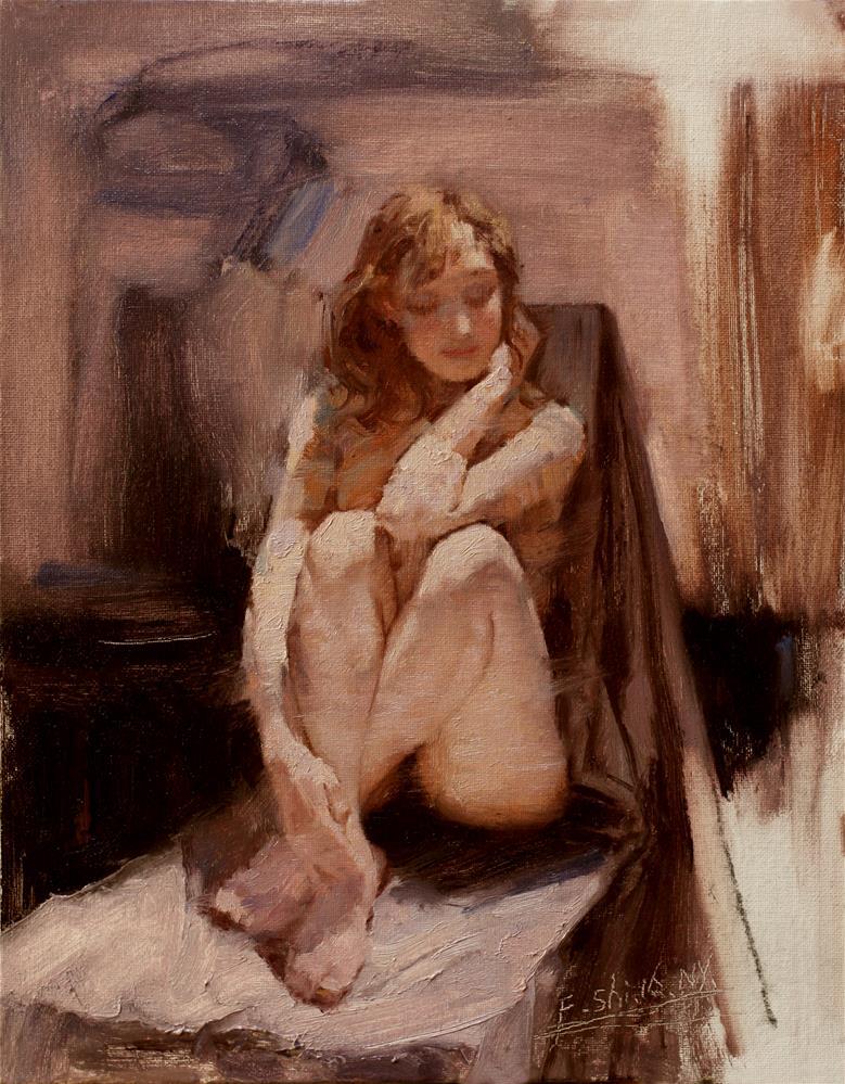 """Human body oil painting(9)"" original fine art by fengshi jin"
