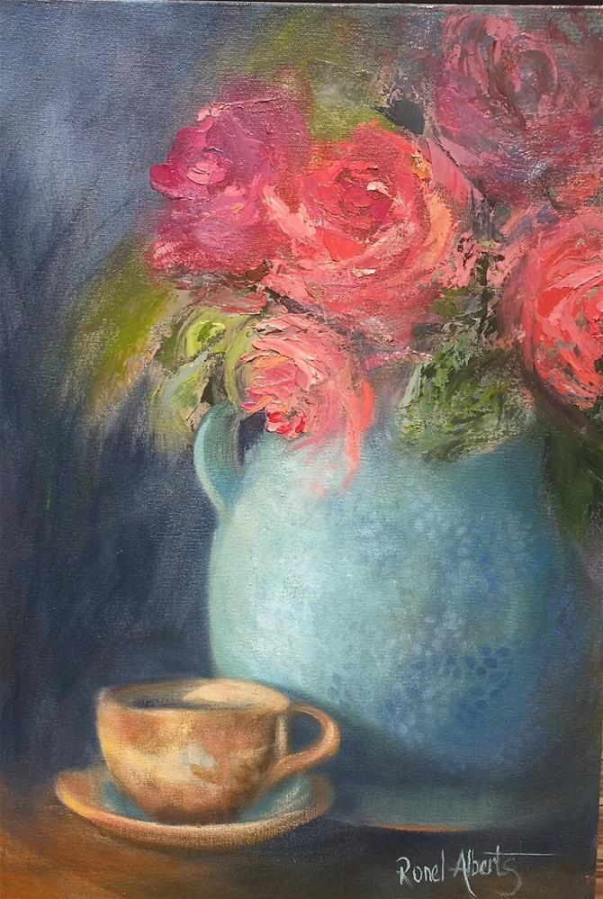 """The blue vase"" original fine art by Ronel Alberts"