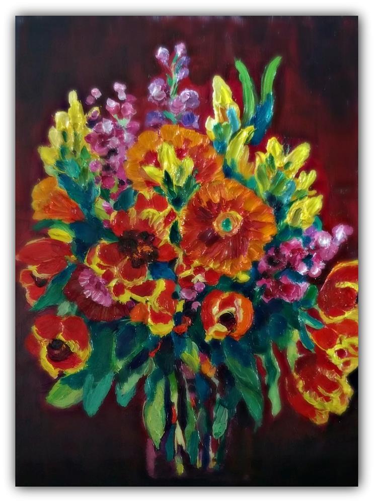 """Bright Bouquet"" original fine art by Dana C"