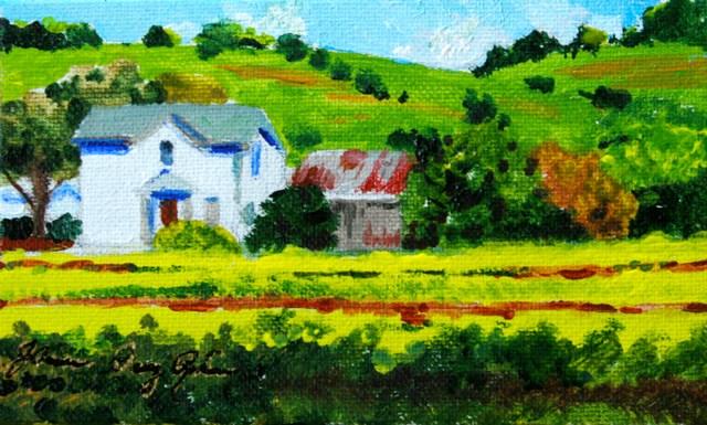 """""""Mustard Fields"""" original fine art by JoAnne Perez Robinson"""