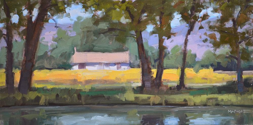 """Across the Pond"" original fine art by Carol Marine"