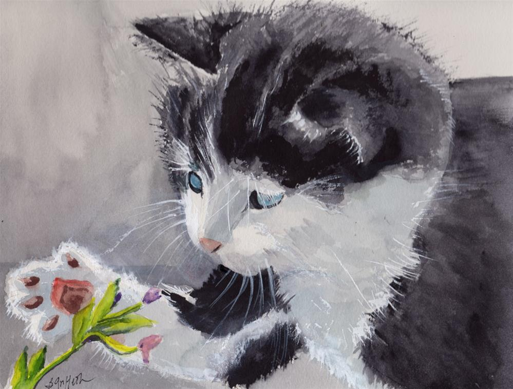 """Playful Kittten"" original fine art by Bunny Griffeth"