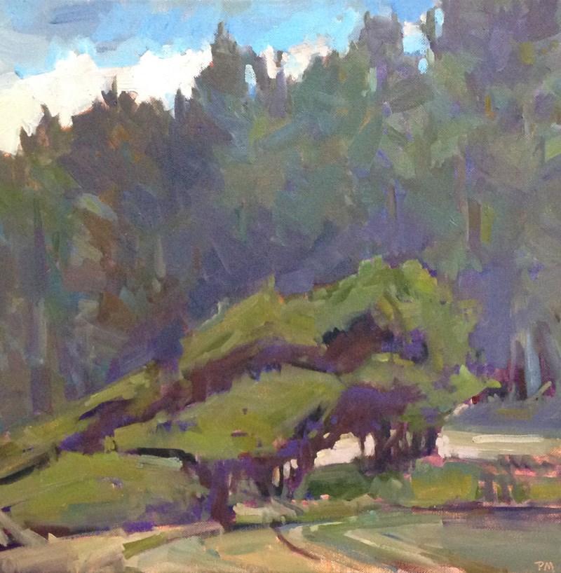 """Windswept Rocky Creek Wayside"" original fine art by Patti McNutt"