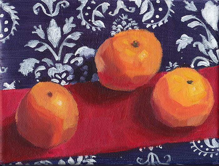 """""""Clementines: Premiere"""" original fine art by J M Needham"""