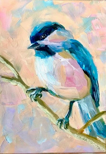 """morning chickadee"" original fine art by Nora MacPhail"