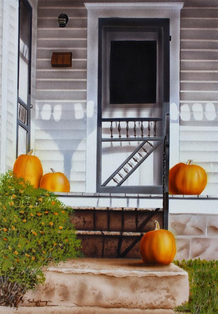 """""""Harvest Porch"""" original fine art by Fred Schollmeyer"""