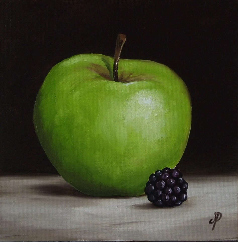 """Apple and Blackerry"" original fine art by Jane Palmer"