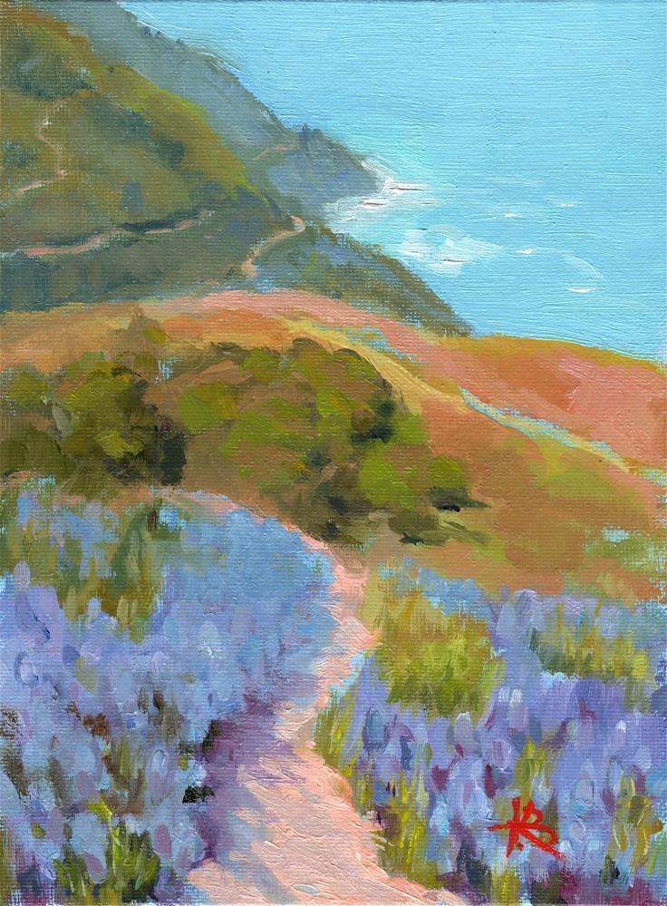 """Big Sur Hike"" original fine art by Kathy Bodamer"