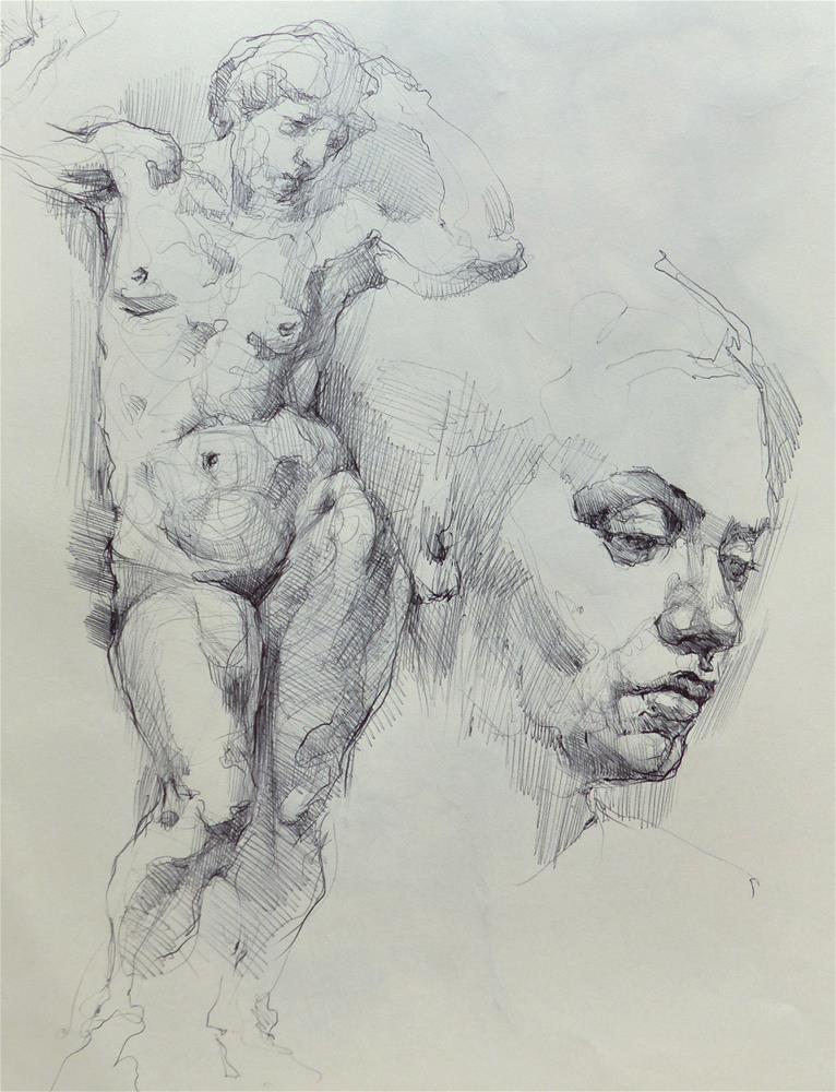 """sketchbook93"" original fine art by Katya Minkina"