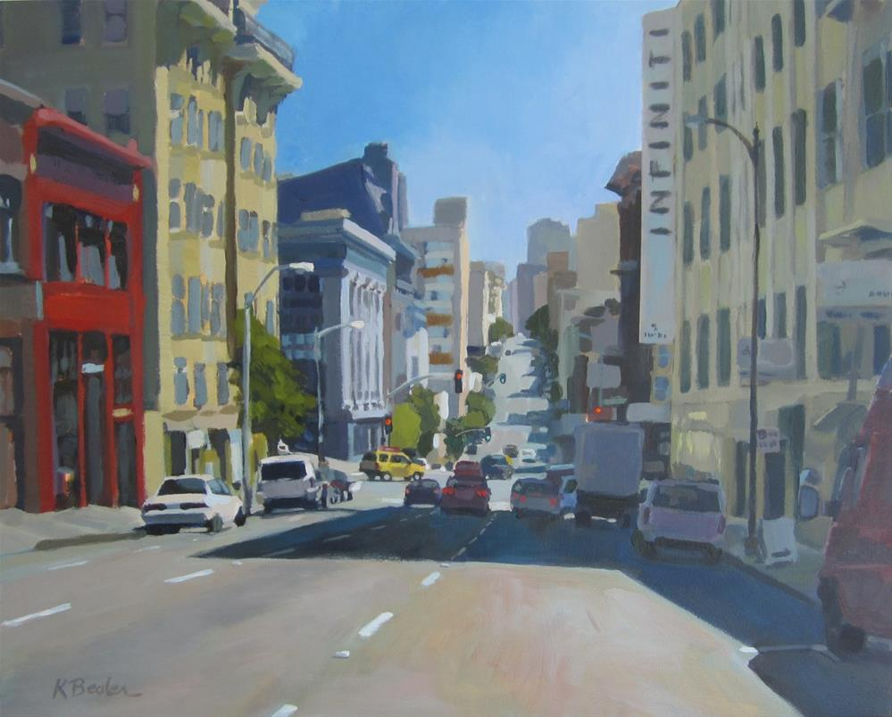 """City Street"" original fine art by Kaethe Bealer"