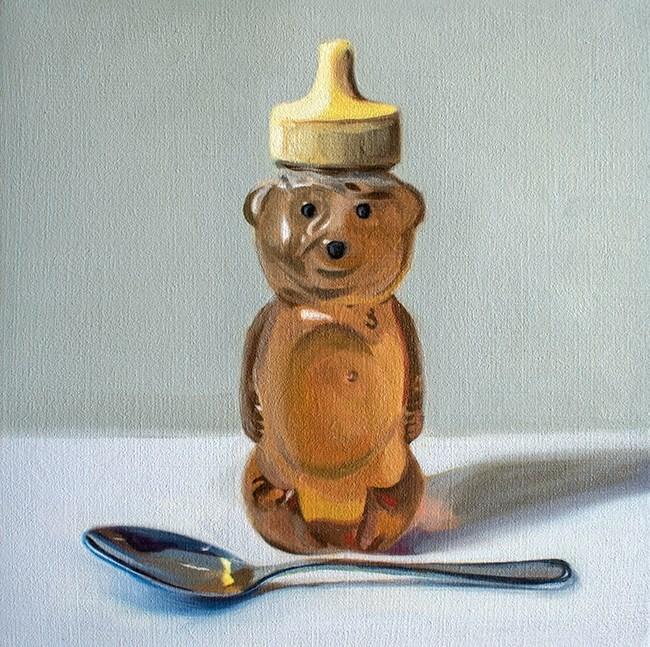 """Honey Bear and Spoon"" original fine art by Lauren Pretorius"