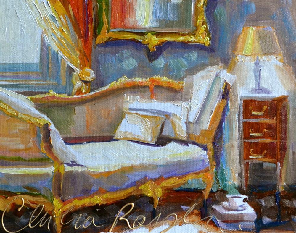 """CRÉME CHAISE"" original fine art by Cecilia Rosslee"