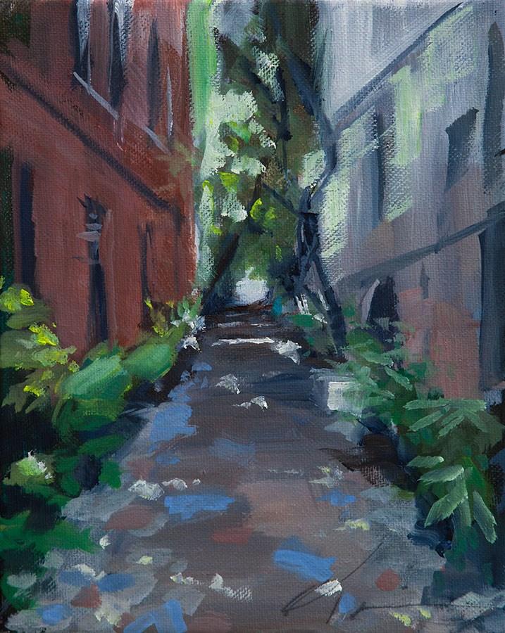 """""""Charleston Alley"""" original fine art by Clair Hartmann"""