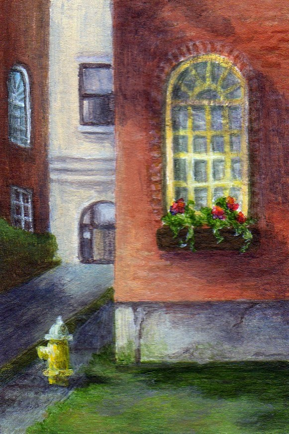"""Street Shadows"" original fine art by Debbie Shirley"