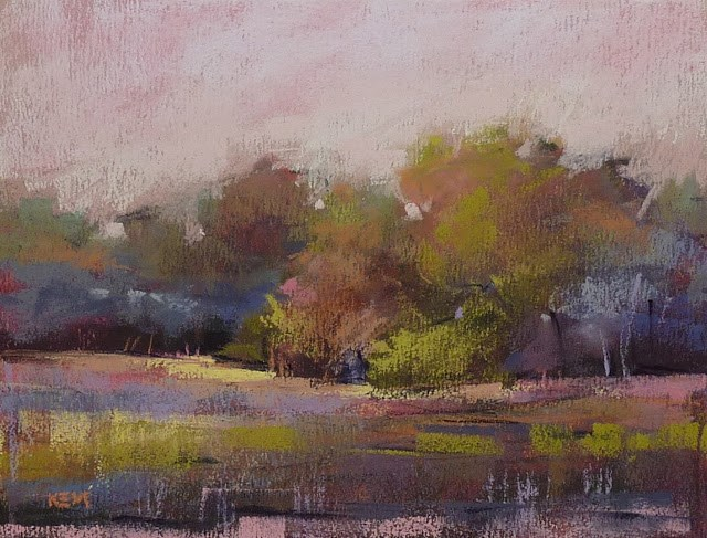 """""""How to Overcome the Fear of a New Box of Pastels"""" original fine art by Karen Margulis"""