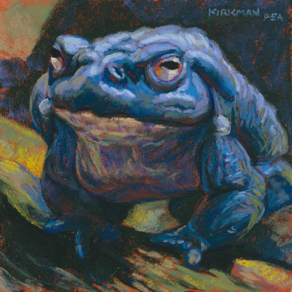 """Frog #16 (Sumo-Toad)"" original fine art by Rita Kirkman"