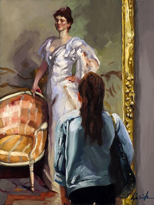 """Fashionable"" original fine art by Karin Jurick"