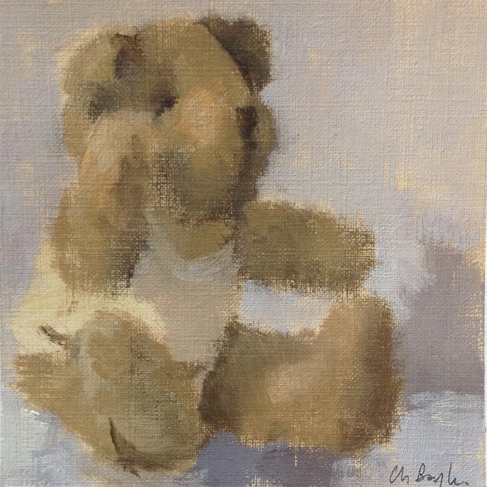 """Old teddy #2"" original fine art by Christine Bayle"