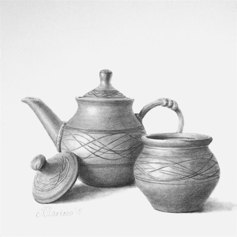 """Tea with honey"" original fine art by Anna Starkova"