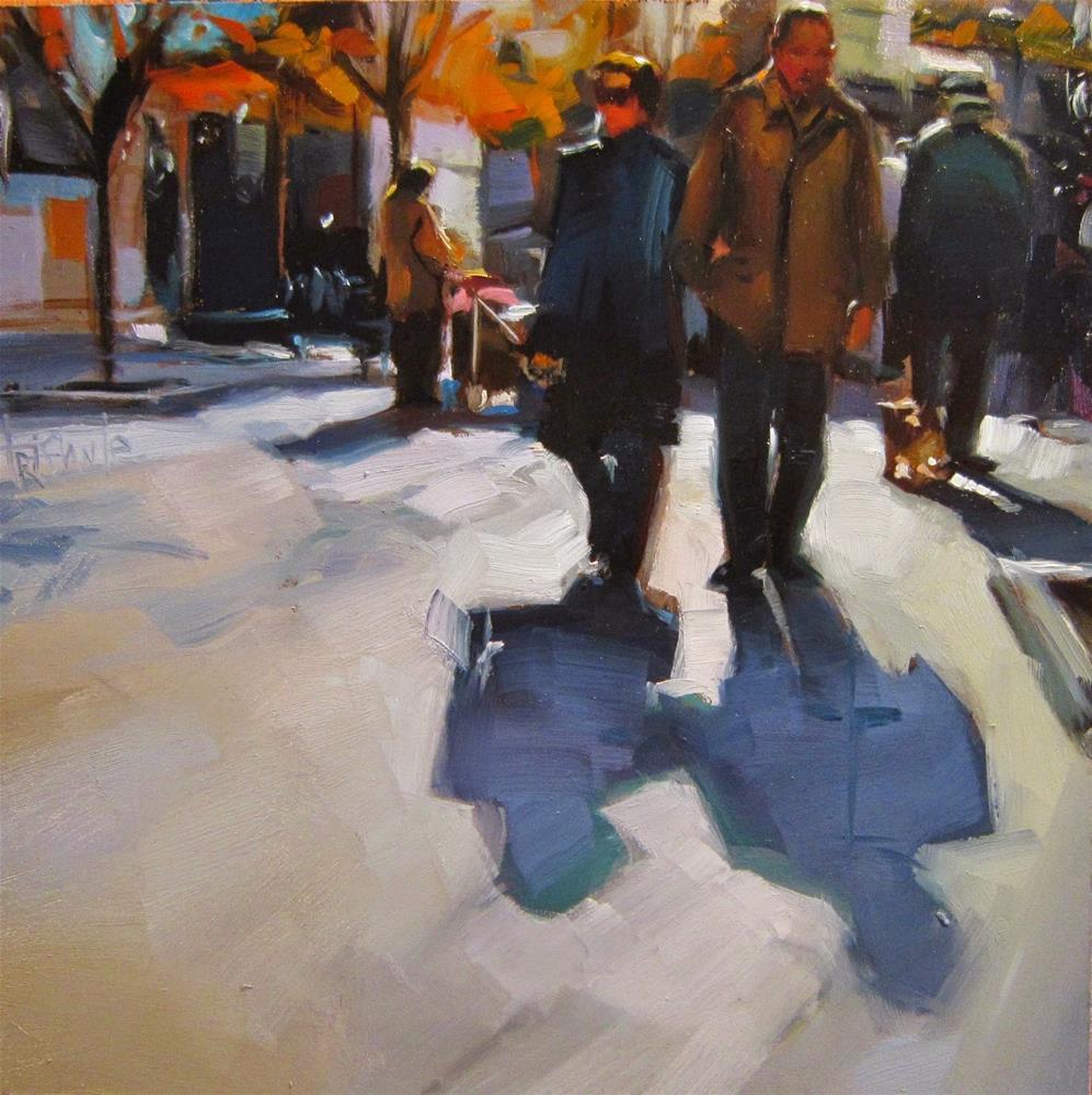 """Walking"" original fine art by Víctor Tristante"