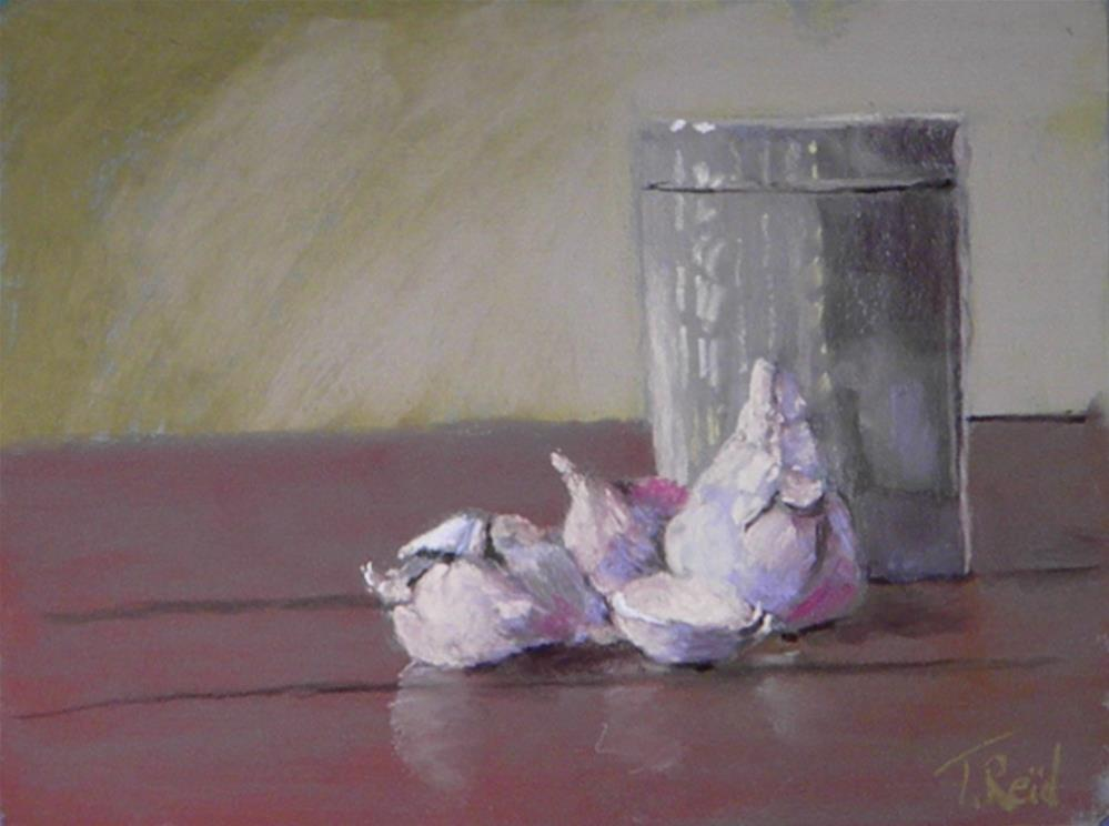 """Garlic and jar"" original fine art by Toby Reid"