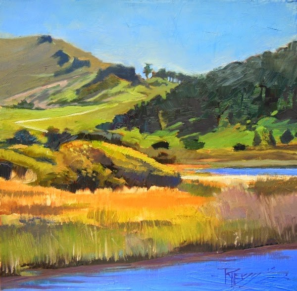 """Carmel River California, coastal, plein air painting by Robin Weiss"" original fine art by Robin Weiss"