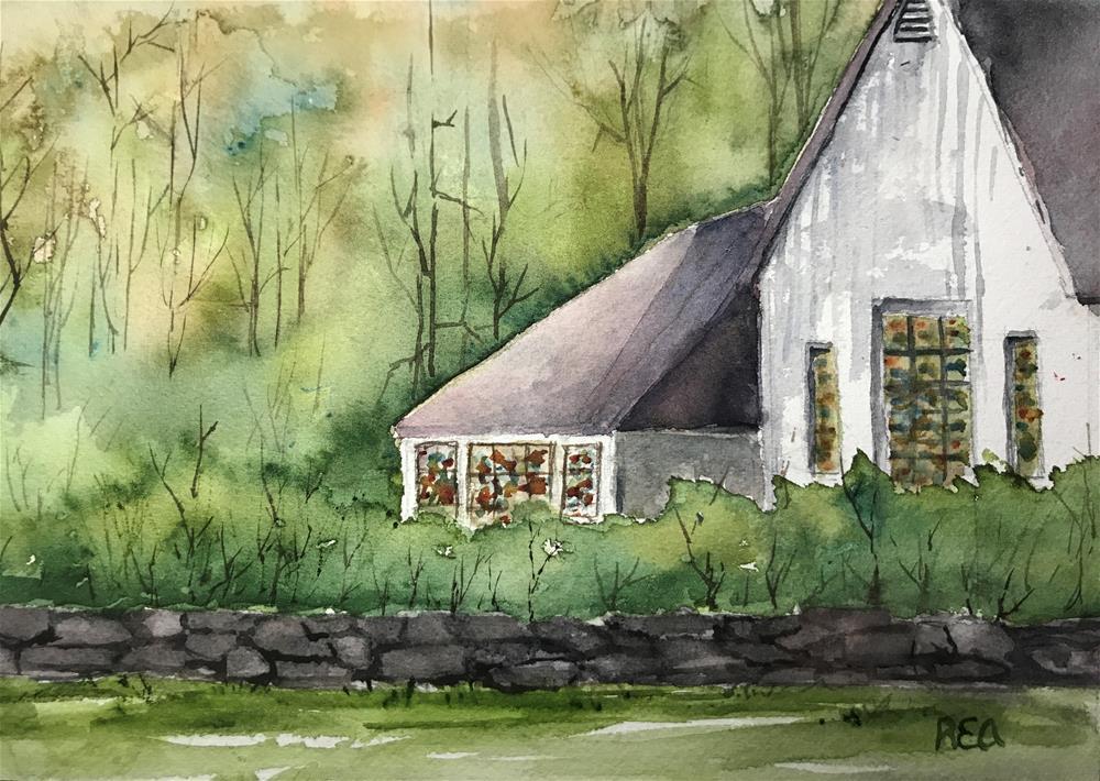"""""""pretty old church"""" original fine art by Betty Argiros"""
