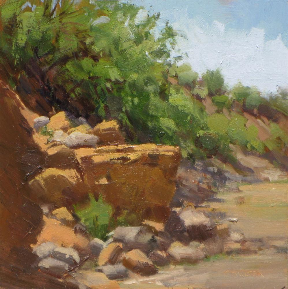 """""""RIVERBED ROCKS"""" original fine art by James Coulter"""