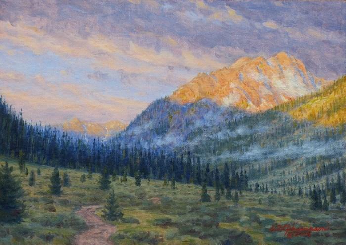 """C1632 ""Colorado Mountain Morning"" (Truro Peak)"" original fine art by Steven Thor Johanneson"