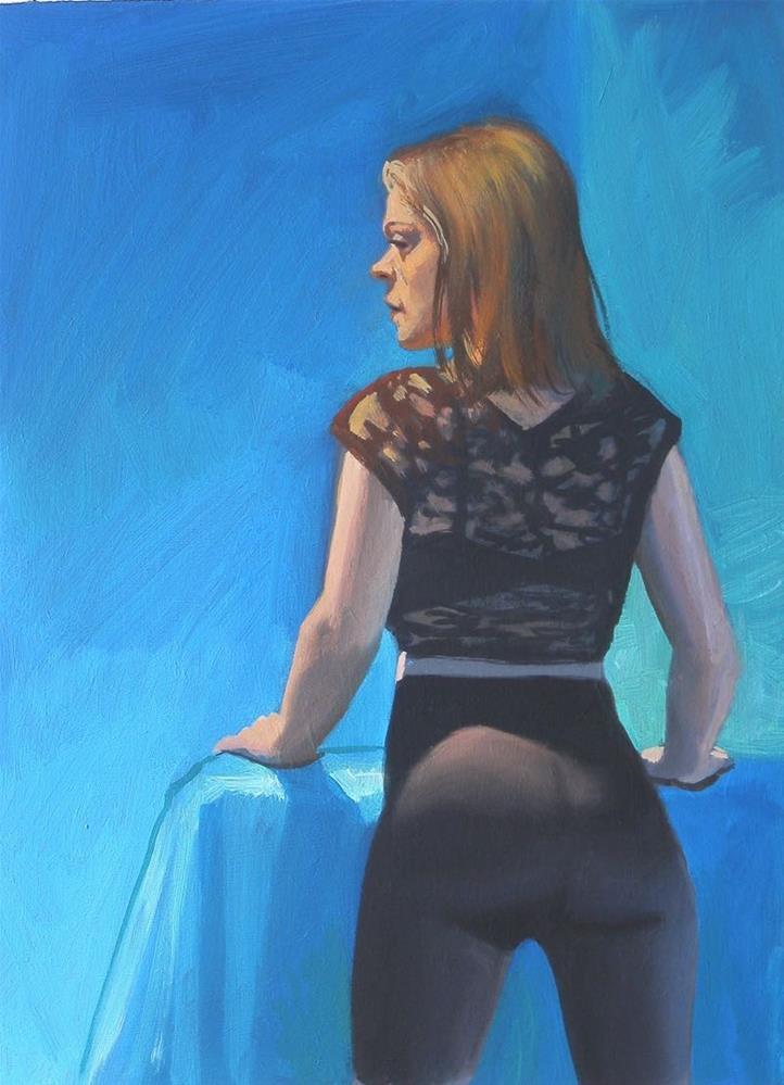 """Back profile"" original fine art by Peter Orrock"