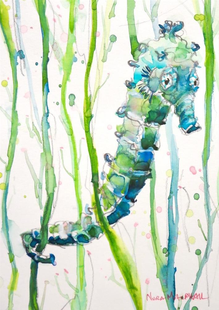 """Seahorse Charlie"" original fine art by Nora MacPhail"