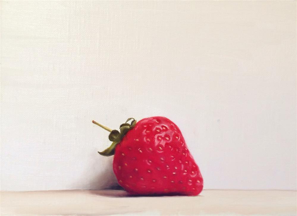 """""""A Strawberry"""" original fine art by James Coates"""