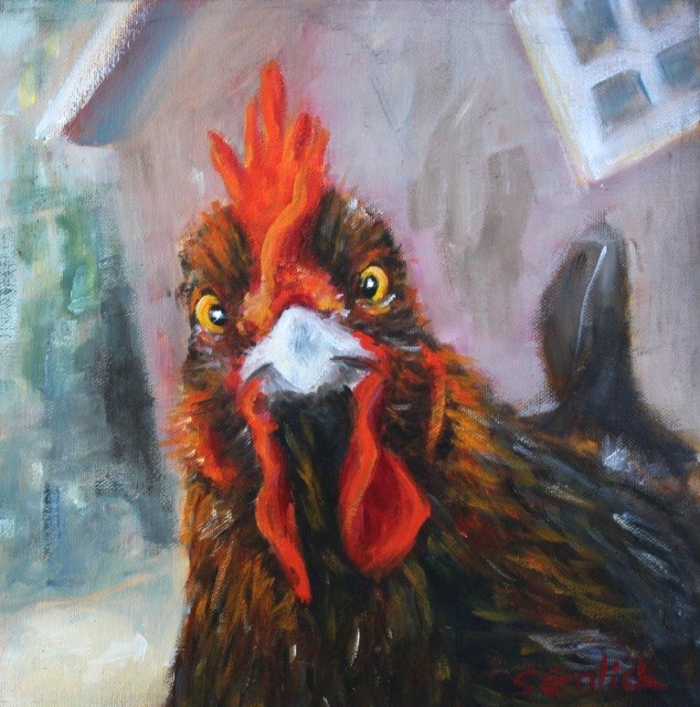 """""""Say What You Lookin At?"""" original fine art by Susan Galick"""