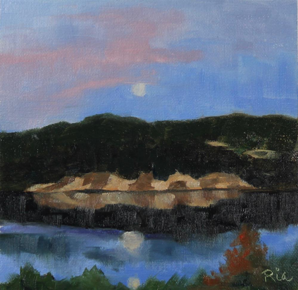 """Moonrise"" original fine art by Maria Reed"